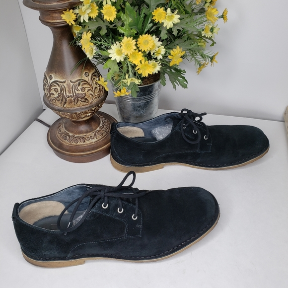 UGG Other - Ugg Black Suede Oxford Chaucer Lace Up Shoe Sz 14